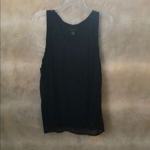 Black tank top blouse